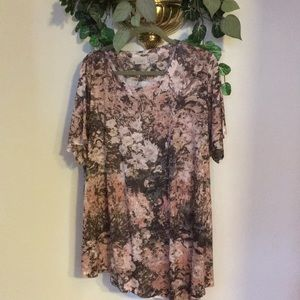 Logo floral shirt 3X